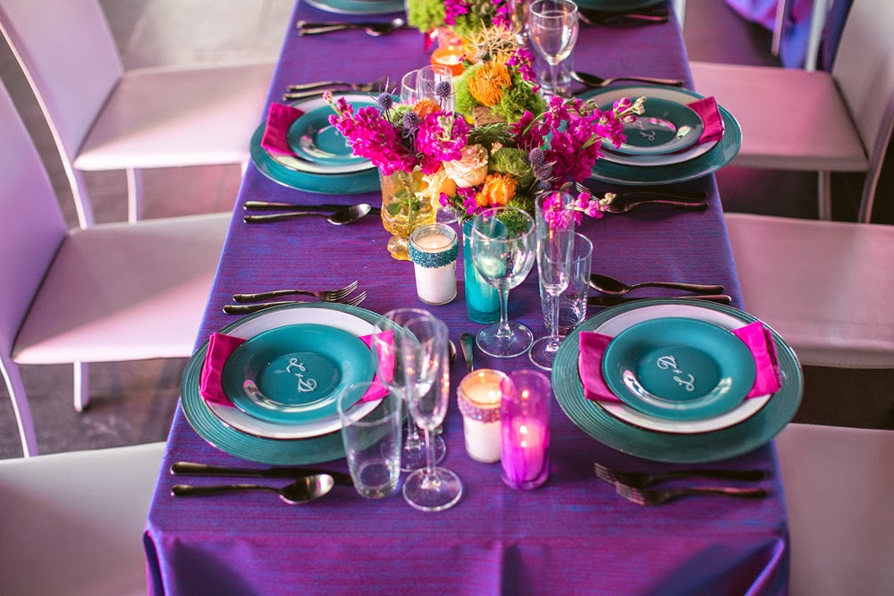 Turquoise Fuchsia Wedding: Savvy Deets Bridal: Styled Shoot: Vibrant Day Of The Dead