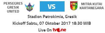 Persegres Gresik United vs Mitra Kukar