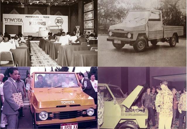 Peluncuran toyota kijang buaya oleh Toyota astra motor bersama presiden soeharto