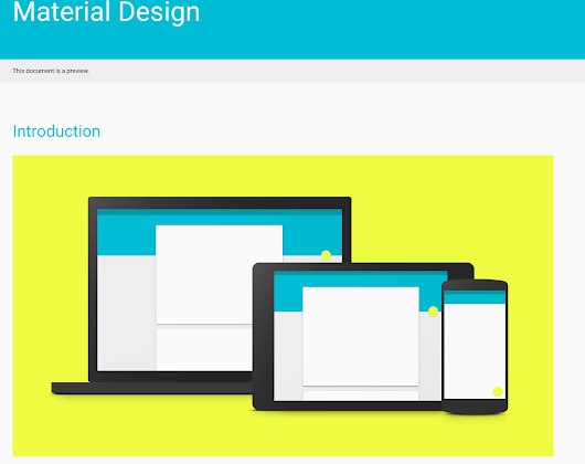 Reflections on Google's Material Design