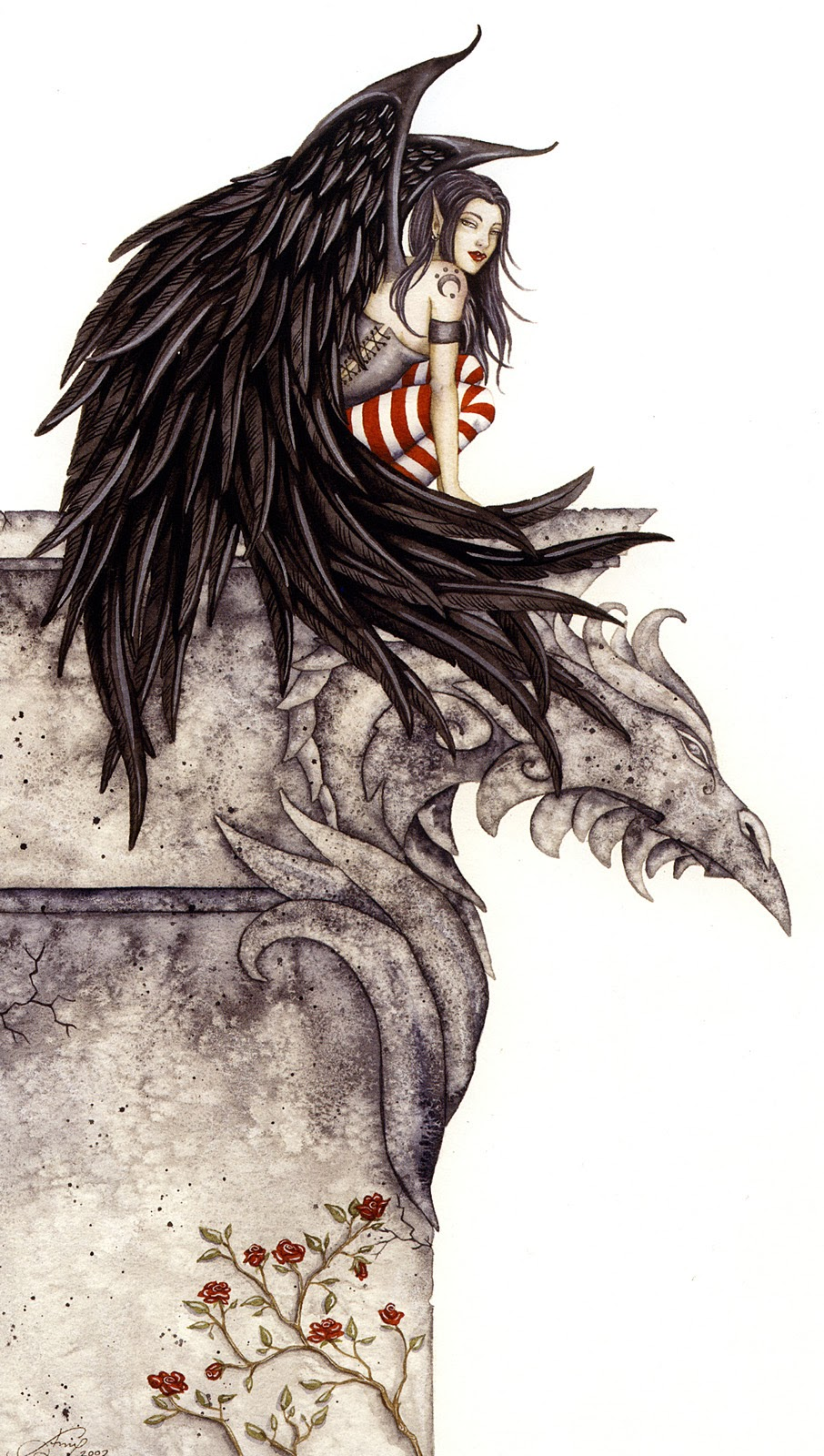 Gothic Fairies Tattoos Designs