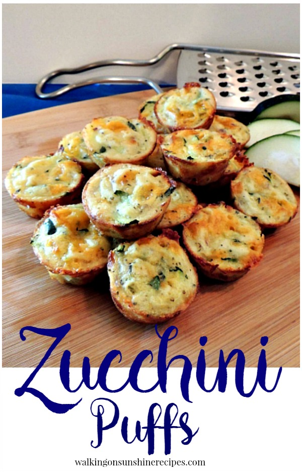 Zucchini Puffs from Walking on Sunshine Recipes
