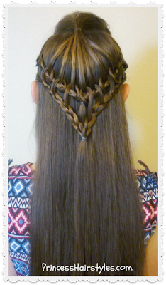 "Cute braided hairstyle, ""umbrella lace."""