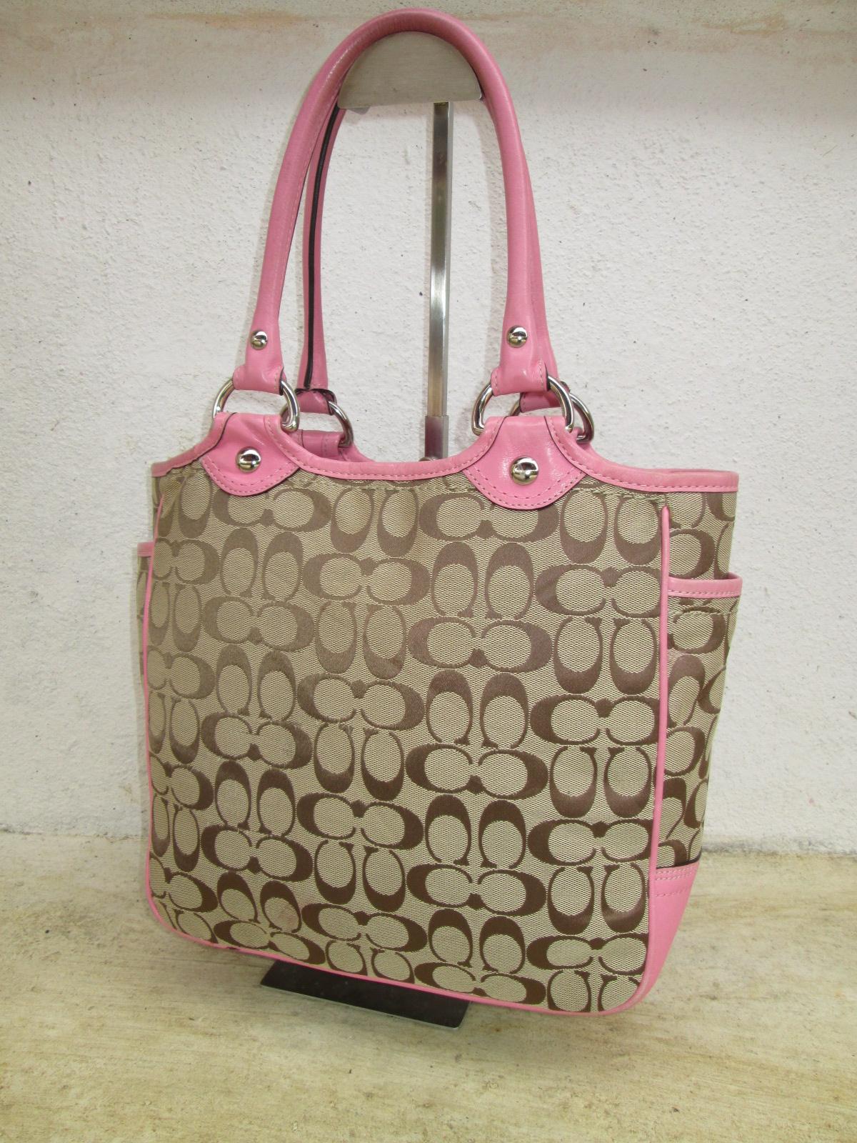D0rayakeebag Authentic Coach Floral Applique Bleeker Khaki Signature Handbag Sold