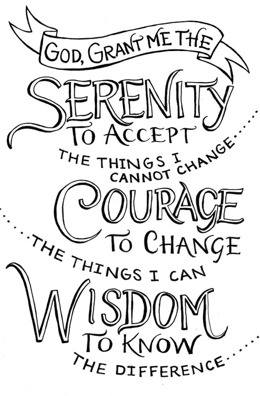 Full Serenity Prayer Coloring Page Coloring Pages