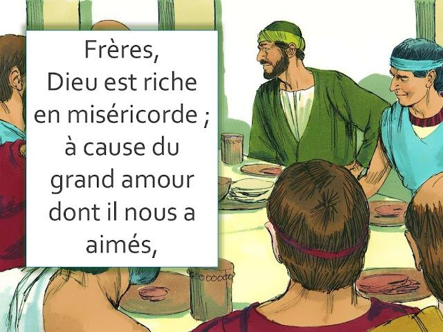 """Lettre de Paul : diaporama """"Dieu est riche en miséricorde"""""""