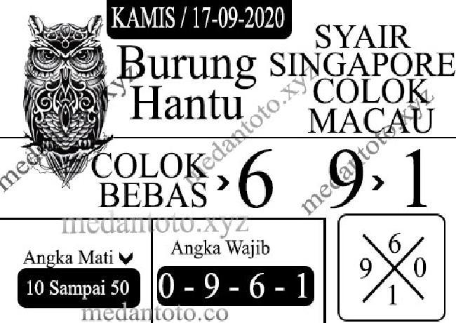 Kode syair Singapore Kamis 17 September 2020 159