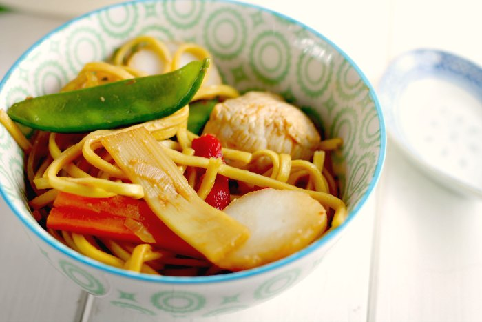 Child Friendly Chicken Noodle Stir Fry