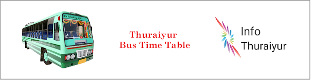 Trichy - Thuariyur Bus Time Table
