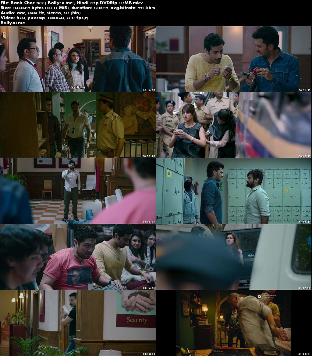 Bank Chor 2017 DVDRip 350MB Full Hindi Movie Download 480p