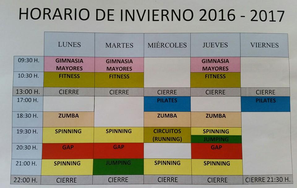 A ora directo horario del gimnasio municipal for Horario gimnasio