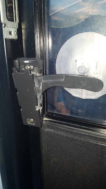 Broken latch on the RV Screen door.