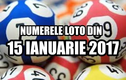 Numerele loto iesite castigatoare la tragerile loto din 15 ianuarie 2017