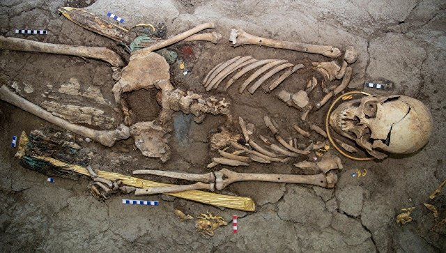 Burial mound in Kazakhstan yields remains of 'golden man' dating back to 8th century BC