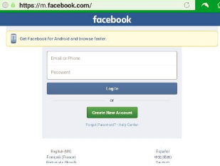 Facebook Log Sign In