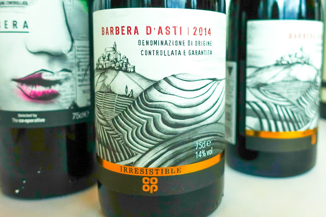 A close up of co-op irresistible Barbera D'Asti