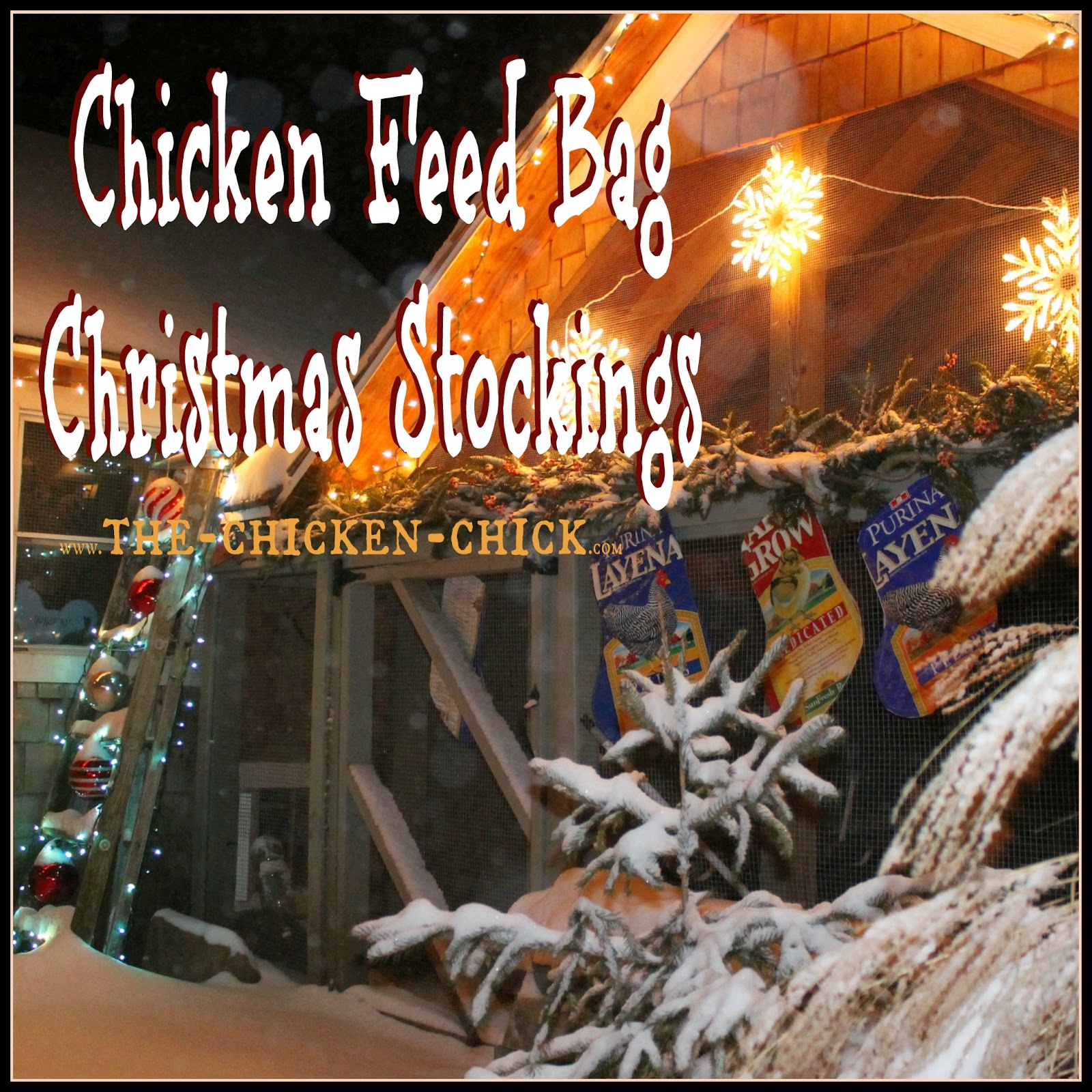 Today I am sharing my DIY repurposed feed bag chicken Christmas stocking tutorial so you can make them yourself and I can stop selling them in my online store and focus more on cookie baking next year!