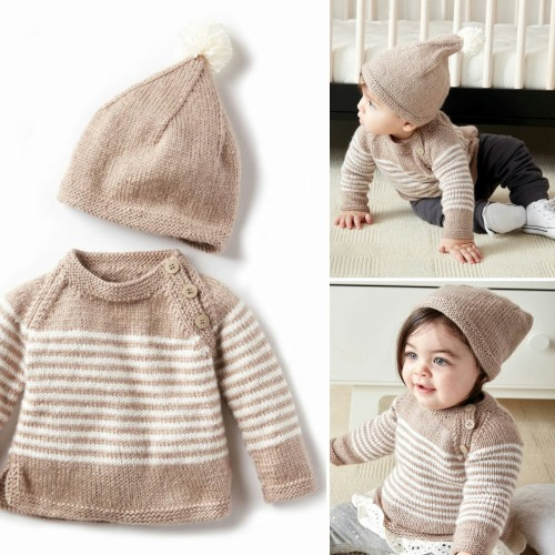 Wee Stripes Pullover & Hat - Free Pattern