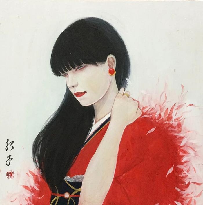 Японский художник. Choji Beniko 3