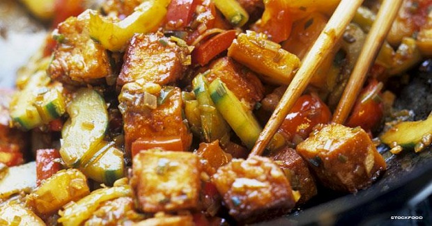 Stir-fry Tofu With Sweet And Sour Vegetables Recipe
