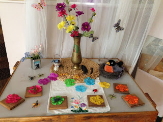 Spring Nature Table - An Invitation to Explore