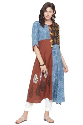 Salwar & Churidar Suits with up to 70% off – ShoppersStop