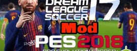 18 – Dream League Soccer mod Pes 2018 Apk Data Obb Download