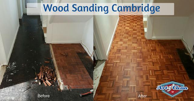 Repair of a parquet floor in Cambridge