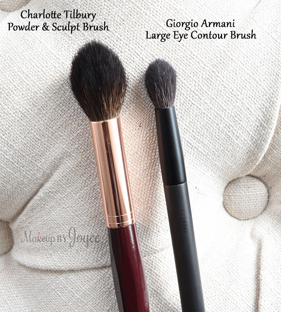 Charlotte Tilbury Powder and Sculpt Brush Contouring Giorgio Armani Review