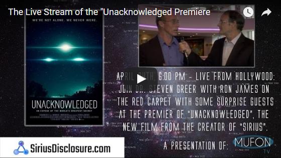 Ufos Disclosure Dr Steven Greer Unacknowledged Premiere