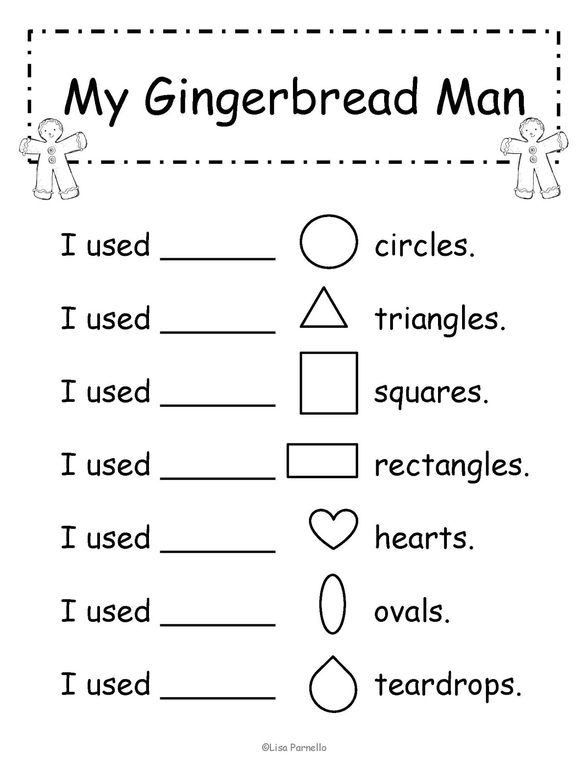 Gingerbread Man Activities And Worksheets Sketch Coloring Page