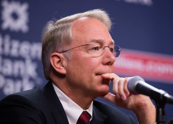 Phillies team president Andy MacPhail speaks of the future