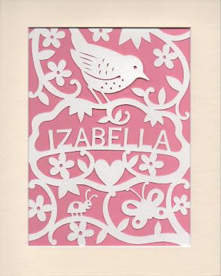 picture of wren papercut