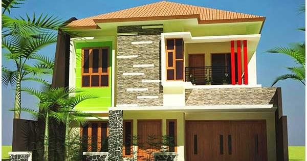 Perpaduan Warna Cat Lisplang  89 kumpulan rumah minimalis lantai 2 nuansa ungu terbaru