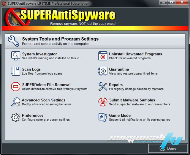 SUPERAntiSpyware Professional Versión 6.0.1262 Final
