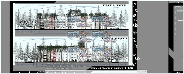 الواجهات ورشة عمل 5 كتل السكن الاجتماعي dwg