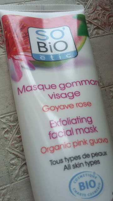 Masque gommant visage goyave rose So Bio étic