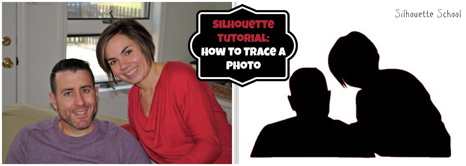 Silhouette tutorial, beginners, trace photo