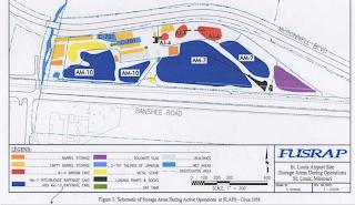 Coldwater Creek FUSRAP Map Toxic Storage Areas