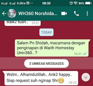 Warih-Homestay-Testimoni-Pn-Shidah