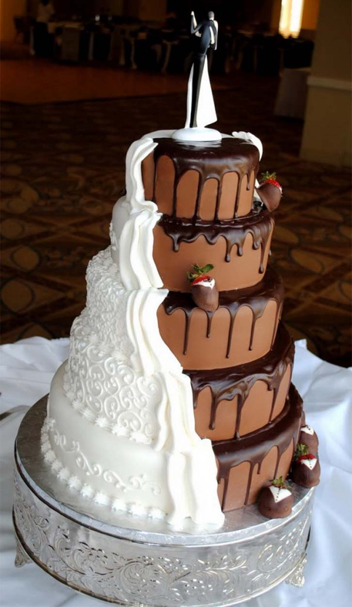 Elegant Chocolate Wedding Cakes Design