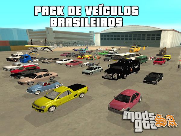 Pack de Veículos Brasileiros v1 para GTA San Andreas