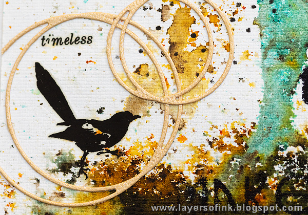 Layers of ink - Stencils and Infusions Tutorial by Anna-Karin Evaldsson with stencils by StencilGirl and Paper Artsy Infusions