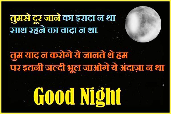eart Touching Good Night Quotes in Hindi