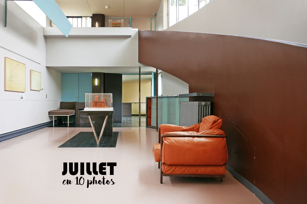 Intérieur de la maison La Roche, salle d'exposition. Maison réalisée par Le Corbusier