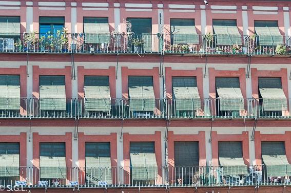Detalle de la Plaza corredera. Cordoba