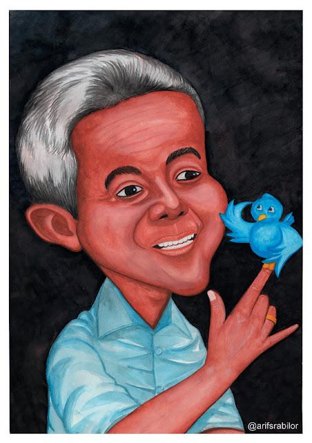 Karikatur Ganjar Pranowo karya Arif Srabilor