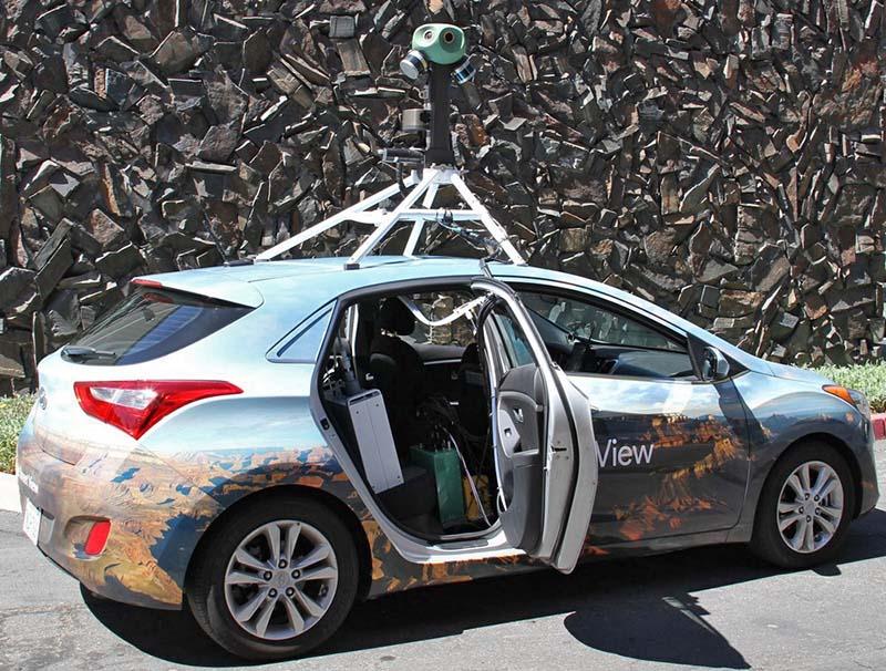 Автомобиль Street View с датчиком загрязнения воздуха Aclima