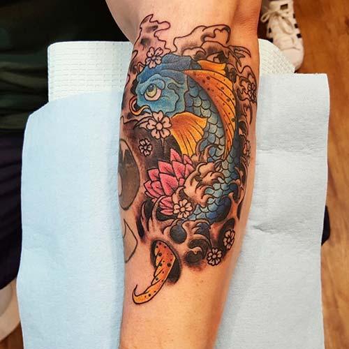 floral koi fish tattoos koi balığı dövmeleri