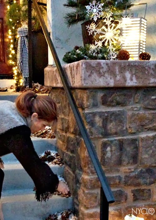 Focal Point Styling Outdoor Holiday Entryway For Christmas